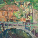 Κωνσταντίνα Ρούση: «Γέφυρα στην Ζαχλωρού», 50Χ70εκ. Λάδι σε καμβά
