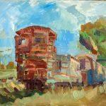 Κωνσταντίνα Ρούση: «Ανοιχτή Φορτάμαξα», 60Χ80εκ. Λάδι σε καμβά