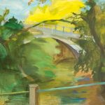Μαριάννα Σμαράγδα Γεωργαντή: «Γέφυρα στη Ζαχλωρού», 70Χ100εκ. Ακρυλικό σε καμβά