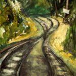 Στρατής Σταματάκος: «Η σύντομη οδός», 50Χ70εκ. Λάδι σε καμβά