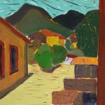 Σπύρος Μακρίδης: «Άποψη από Καλάβρυτα», 50Χ70εκ. Ακρυλικό και λάδι σε καμβά