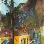 Ελένη Ζούμπα: «Τοπίο από το Διακοπτό», 50Χ70εκ. Ακρυλικό και κάρβουνο σε καμβά