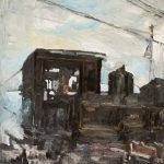 Ελένη Τσαγκαράκη: «Μουντζούρης», 70Χ100εκ. Λάδι σε καμβά